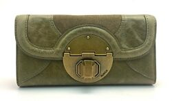 MIMCO STAND OFF LARGE LEATHER WALLET IN KHAKI STANDOFF BNWT RRP$229