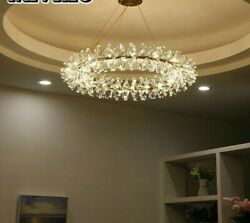 Pendant Ring Lights Stainless Lamps For Master Bedroom/hotel Hall Knob Switching
