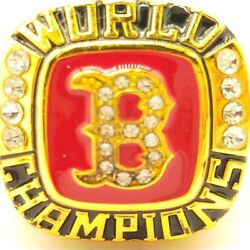 USA Boston Red Sox 2004 Believe World Series Golden Championship Ring Sizes 8 14