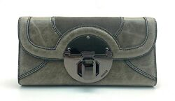 MIMCO STAND OFF LARGE LEATHER WALLET IN CEMENT STANDOFF BNWT RRP$229