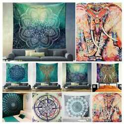 Indian Mandala Tapestry Hippie Wall Hanging Bohemian Bedspread Throw Dorm Decor