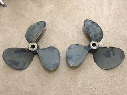 3 Blade 24 X 25 Nibral Propellers Left And Right