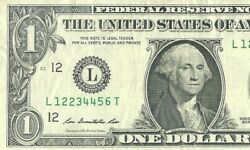L12234456t One Of The Kind Ladder One Dollar Bill Complete Sequence From 1 To 6