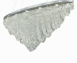 Chandelier Crystal Fashionable Lights Stainless Glass Body Creative Modern Lamps