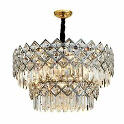 Chandelier Lights Crystal Chrome Modern Stainless Suitable Place For Living Room