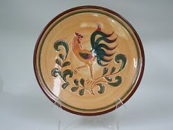 5 Pennsbury Pottery Amish Plates Rooster,buggy,leaf,harvest,family Housewarming