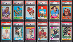 1967-2005 NFL Hall of Fame PSA Graded Rookie RC Sports Card Collection!