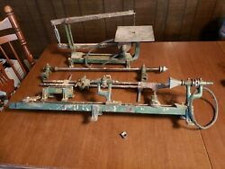 Vintage Walker-turner Driver Line Scroll Saw And Wood Lathe With Guides And Parts