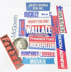 Lot Of Antique Political Memorabilia With Wallace Metal License Plate