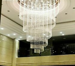 Chandelier Spiral Crystal Lights Perfect For Hotel Lobby Luxury Decoration Lamps