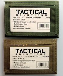 Tactical Military Tri- Fold Polyester Wallet with Multiple Card Slots    $10.60