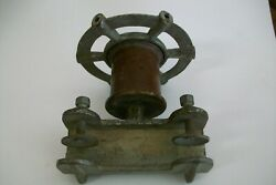 1930 And039s Waterwitch Outboard Steering Wheel Assembly With Clamps Vintage Marine