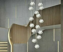 Chandelier Lights Transparent Crystal Ball Perfect For Household Staircase Sides