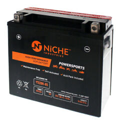 Niche Agm Battery For Buell Ducati Harley Davidson Indian Ytx20h-bs