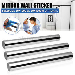 3d Mirror Wall Sticker Square Shape Self-adhesive Home Bedroom Wall Decor
