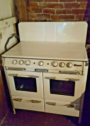 1950 O'keefe And Merritt Vintage Stove Double Oven Broiler Griddle 50s Retro
