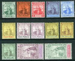 Trinidad-1904-09 A Mounted Mint Set To Andpound1 Sg 133-145