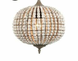 Pendant Vintage Wood Lights Environment-friendly Wooden Beaded Home Serenity New