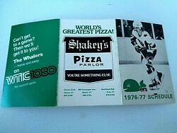 1976 New England Whalers Wha Hockey Schedule 17 Mike Rogers Hartford Ny Ranger