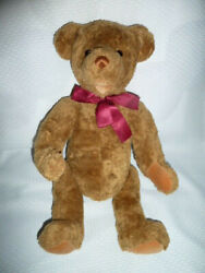 Gund Timeless Collectibles For Target 18 13 Brown Teddy Bear Stuffed Plush Red