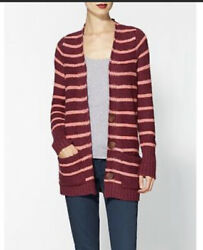 Free People Sweater FP Beach North Beach Striped long Cardigan XSmall $27.00