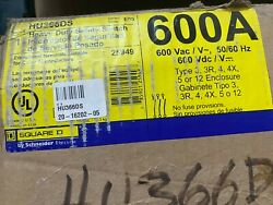 Schneider Electric 3p 600a 600v Non Fused Stainless Steel Hu366ds Safety Switch