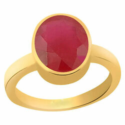 Natural Lab Certified Ruby Ring Manik For Astrological Purpose Energized