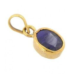 Natural Lab Certified Blue Sapphire Pendent Neelam For Astrological Purpose