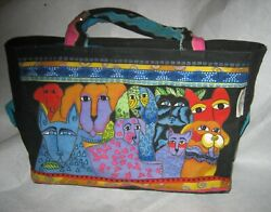 Laurel Burch Puppy Dog Canine Tote Purse Bag $18.00