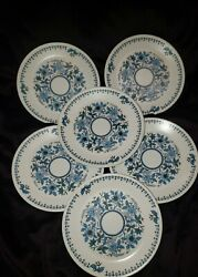 Noritake Progression China Blue Moon 9022 Bread And Butter Plates Set Of 6
