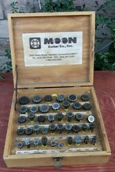 Moon Cutter Company Lot In Wooden Box Tool