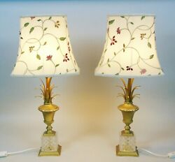 Good Pair Of Maison Charles Style Cut Crystal Table Lamps