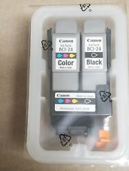 Canon Qy6-0038 Printhead W/ Bci-24 Color And Black Ink Tanks - No Box