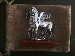 Rare Vintage Genuine Sterling Silver 925 Italian Made Winged Horses Statue 114g