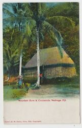 Mountain Bure And Cocoanuts Nadroga Fija Old Postcard By Fw Caine Suva C1905