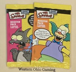 The Simpsons 2 X Trading Card Game Booster Pack New Tcg Ccg