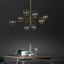 Modern Chandelier Light Fixture Grill Bubble Glass Inside Led Kitchen Lampshades