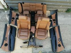 Dakota Saddle Brown Lcd3 Leather Seats Complete Interior For Bmw E93 Convertible