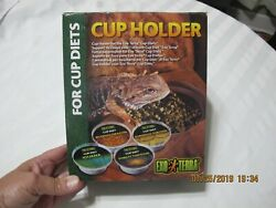 Reptile Exo Terra Cup Holder for Cup Diets EXOTICS Bearded Dragon Lizards NEW