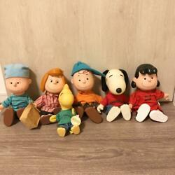 Snoopy 6 Body Set Knottand039s Berry Farm Limited Vintage Rare Plush Toy 24cm From Jp