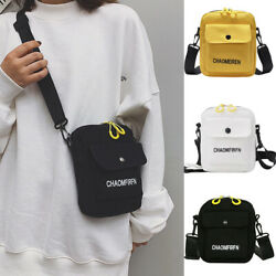 Women Ladies Shoulder Bag Canvas Messenger Handbags Crossbody Bags Men Fashion $8.99