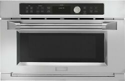 Monogram 30 Stainless Steel Single Electric Convection Speed Oven Zsc2202jss