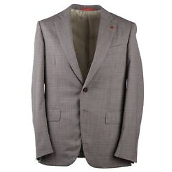 Isaia Modern-fit Layered Check Travel Wool Suit 44r Eu 44 Base Gregory