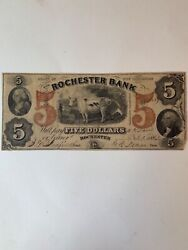 Rare The Rochester Bank State Of New Hampshire 5