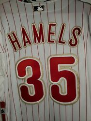 Mvp 2008 World Series Cole Hamels 35 Phillies Gold Stiched Jersey, Rare, New