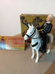 Hopalong Cassidy And His Horse Topper With Original Box Vintage Ideal Toy