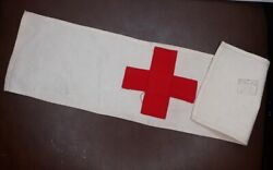 1918 Army Issue Combat Medic Red Cross Armband 5 Heavy Artillery Division