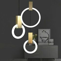 Rings Pendant Lights Home Decorations Suitable For Staircase Side Loft Lamps New