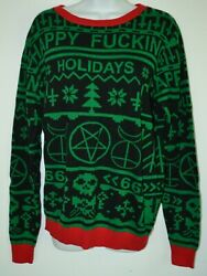 Rat Baby Happy F------- Holidays Sweater Xl Green Red Black