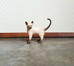 Dollhouse Miniature Kitty Cat Siamese Standing 1:12 Scale Animals Pets A4157SB